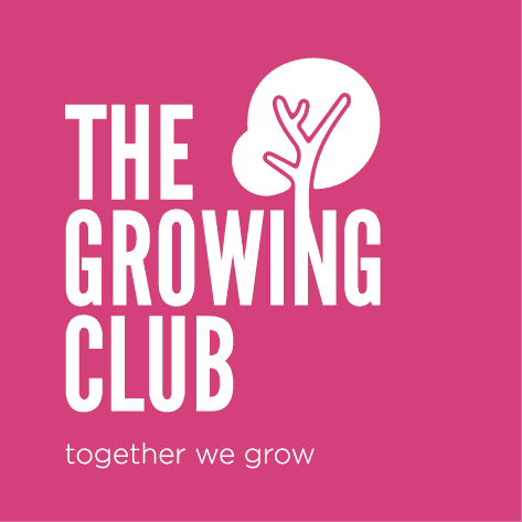 the growing club, logo, business courses, lancaster