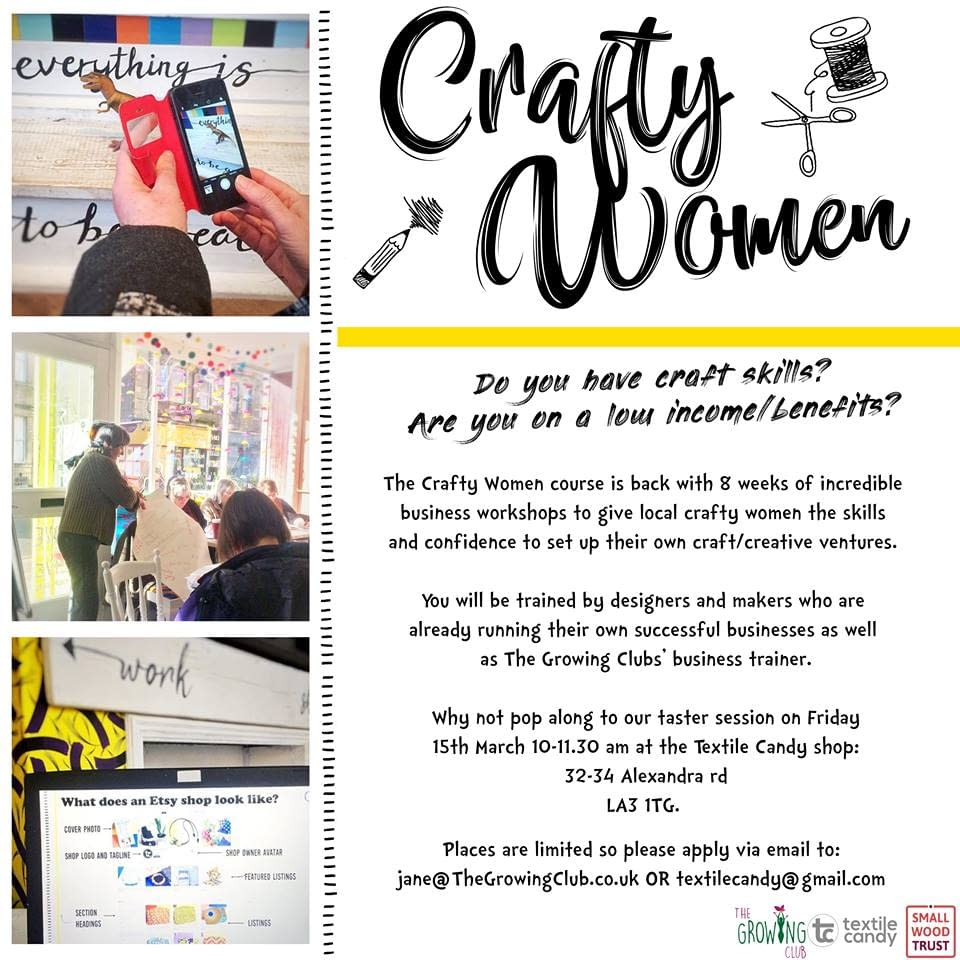 crafty women, the growing club, morecambe, textile candy